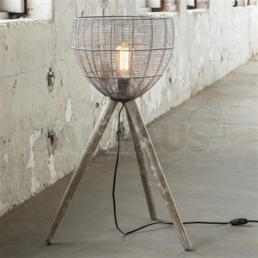 Stehlampe Caged low - Industrial Design