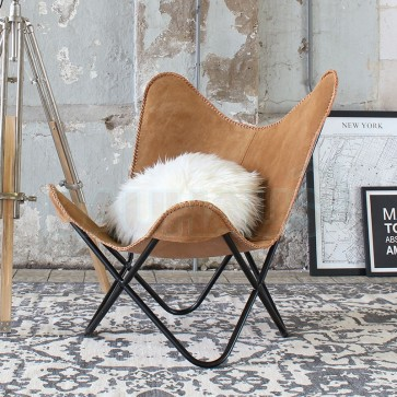 Butterfly Chair Wildleder-Look Camel