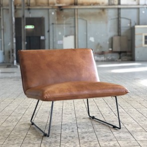 Industrieller Sessel Yasmin cognac Industriedesign