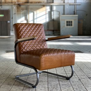 Industrieller Sessel Miley cognac Industriedesign