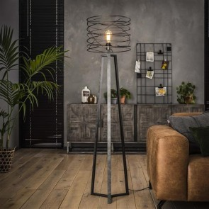 Stehlampe Curl charcoal Industrial Design
