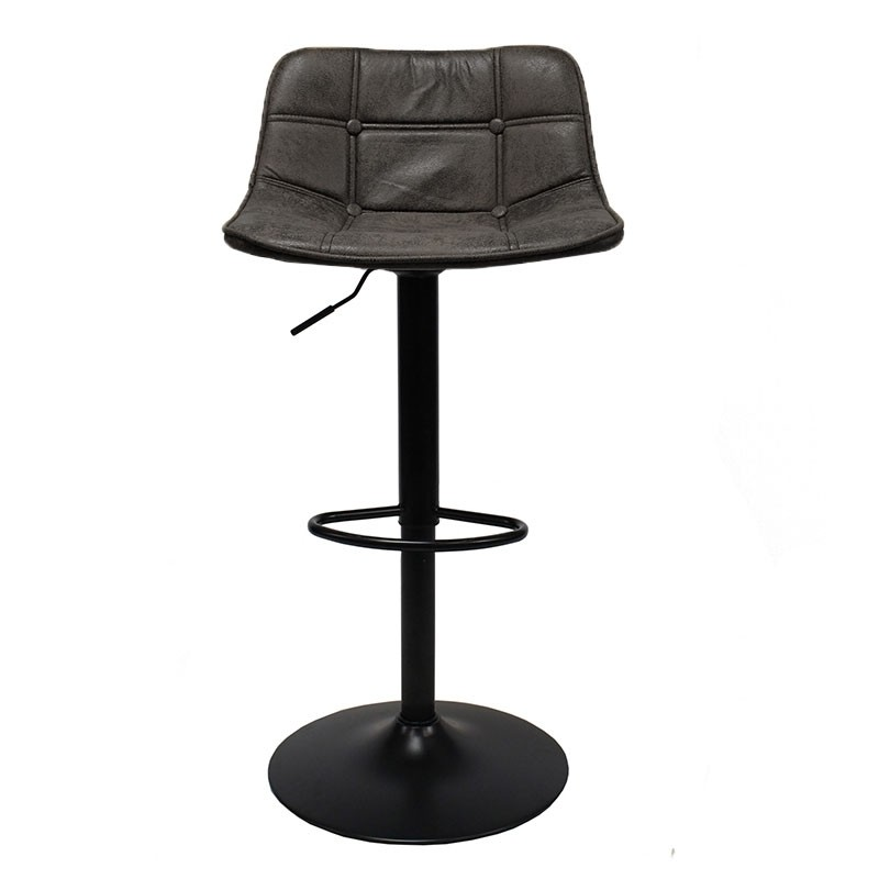 Barhocker Rocky Leder Industrial Design anthrazit