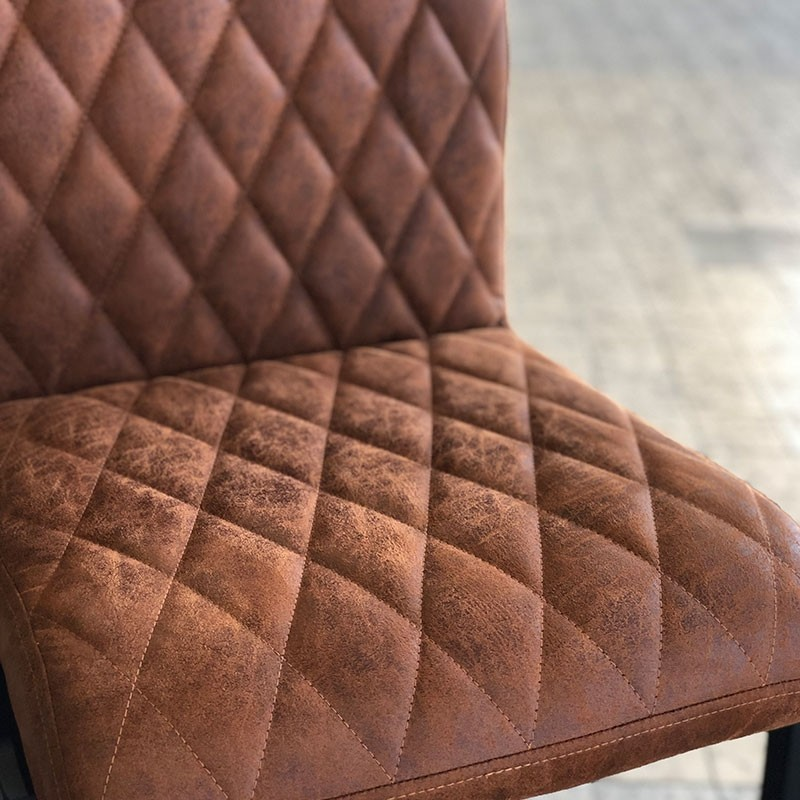 Barhocker Diamond Leder cognac