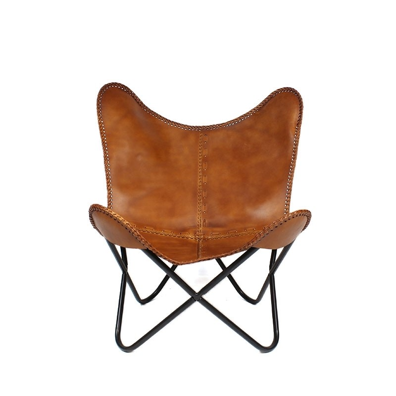 Butterfly Chair Spirit cognac Leder