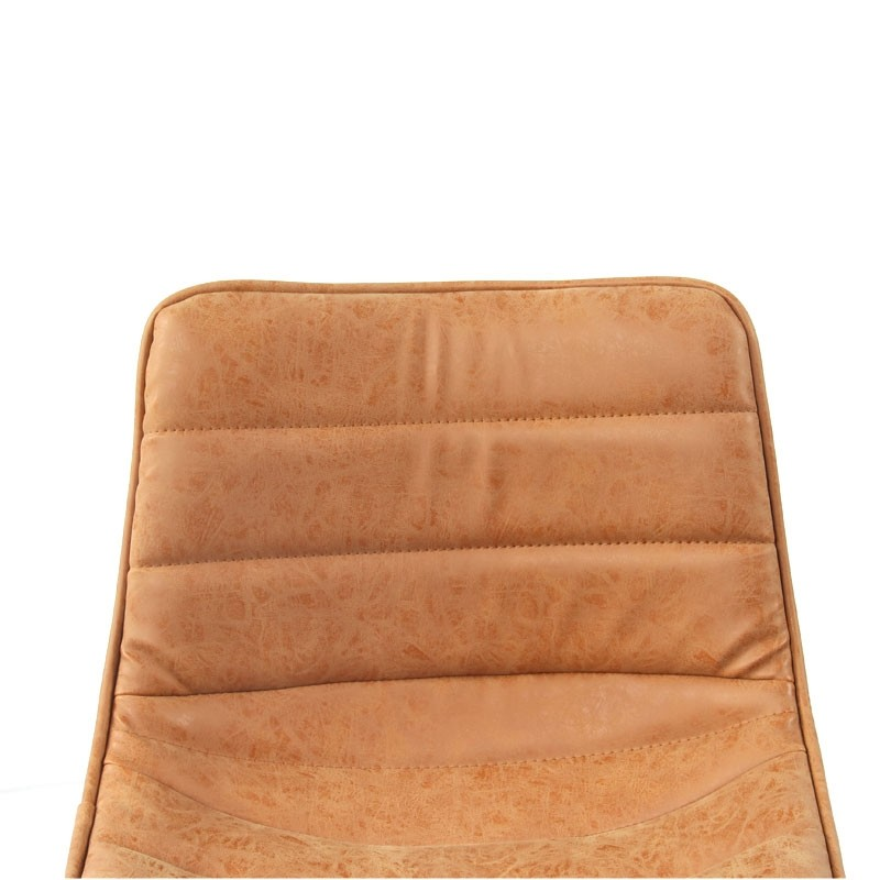 Industrieller Barhocker Boston Cognac Leder