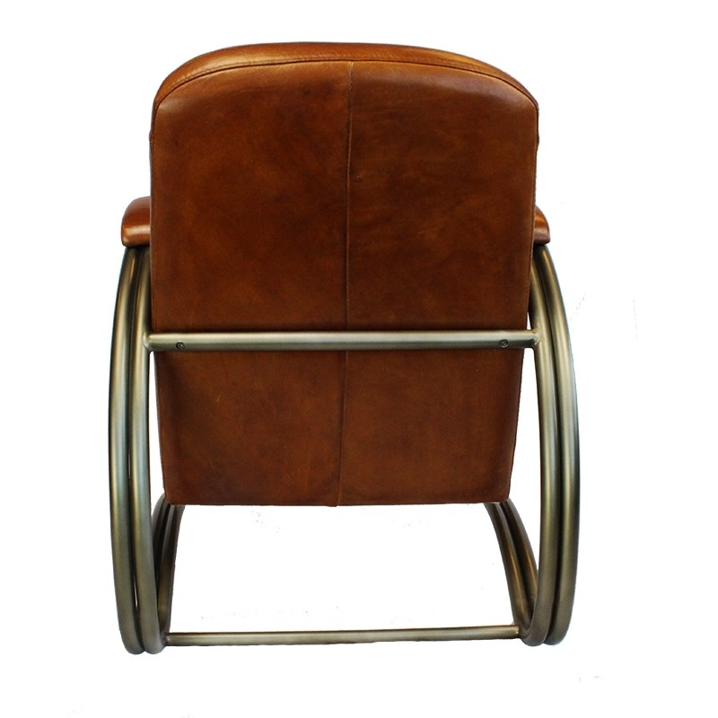 Industrieller Sessel Collin cognac