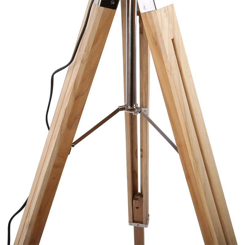 Stehlampe Tripod Detroit Holz / Metall